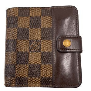 Authentic Louis Vuitton Damier DE Compact Wallet